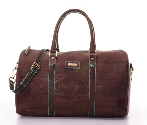 Lagos weekender cork leather bag