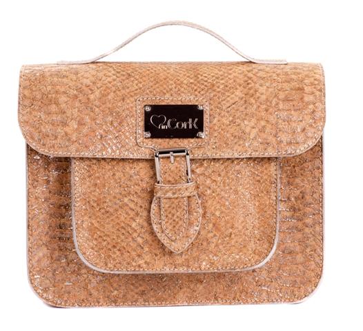 bologna python cork satchel