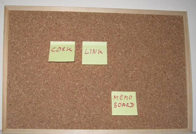 cork memo board