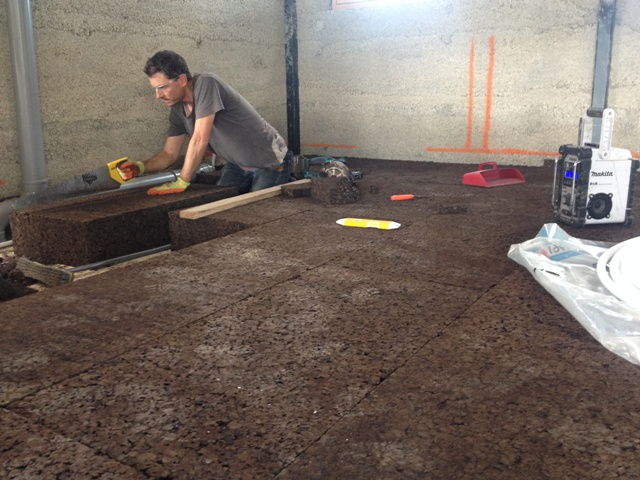 expanded cork floor insulation