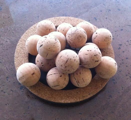 natural cork balls