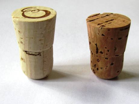 Natural bar-tops corks