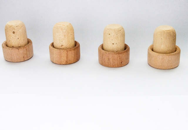 different qualities of natural cork